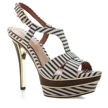 Gianni Bini Skye Striped Platform Sandals | Dillards