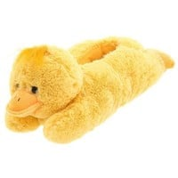 Wishpets Adult M Yellow Duck Animal Slippers