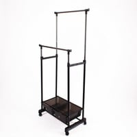 double hanger stands with a box for clothes Eurotorg home storage wardrobe HG74 / 300-170