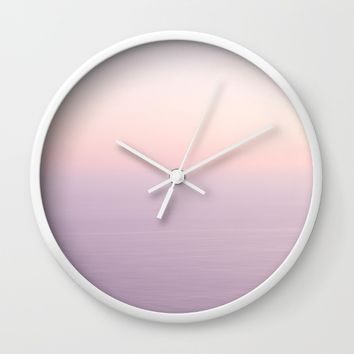 Pink Sea Wall Clock by Horizon Studio
