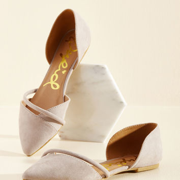 Point Made Flat in Neutral | Mod Retro Vintage Flats | ModCloth.com