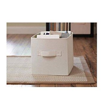 Better Homes and Gardens Collapsible Fabric Storage Cube - Cream