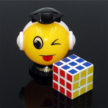 (AOSST)3x3x3 Whirlwind boy Q small Cube Professional multicolour Cubo Key buckle Puzzle Speed Twist learning & Eeducation Toys