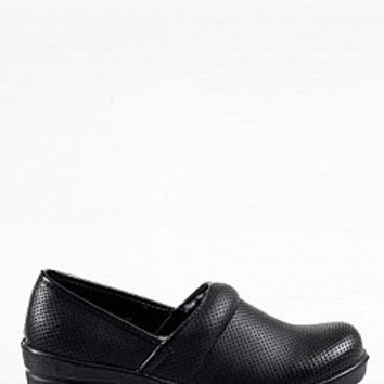 Rasolli DANNIS-1311-3-4 Perforated Clogs Flats Clogs BLACK Bare Feet Shoes