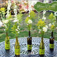 Wedding Reception Centerpiece: DIY Wine Bottle Arrangements - Bridesmaid.com - StumbleUpon