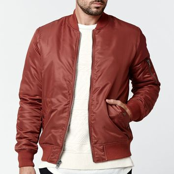Modern Amusement Nylon Bomber Jacket - Mens Jacket - Red