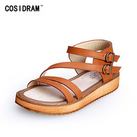 2017 New Arrival Summer Women Shoes Platform Peep Toe Women Sandals Ladies Sandalias Beach Shoes Plus Size 41 42 43 SNE-476