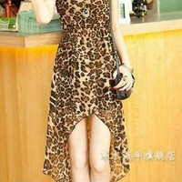 Leopard High Low Dress