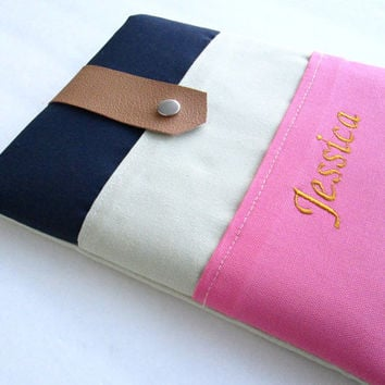 Monogrammed iPad Case, Personalized iPad Case, iPad Pro Case, 2 Pockets iPad Case, Initials iPad Case, Custom iPad Case.