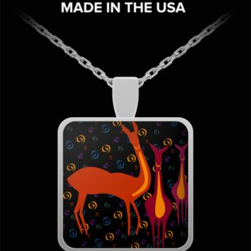Abstract Art Buck Necklace