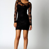 Samantha Long Sleeve Lace Bodycon Dress