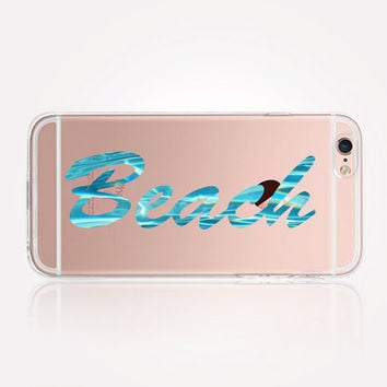 Transparent Beach Quote iPhone Case - Transparent Case - Clear Case - Transparent iPhone 6 - Transparent iPhone 5 - Transparent iPhone 4
