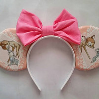 Pink and peach Bambi and Thumper ears