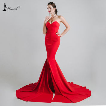 Missord 2016 Sexy wrapped chest asymmetric maxi dress party dress FT1683-1