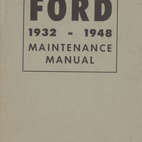 Ford Cars and Trucks - 1932 - 1948 Maintenance Manual - Ford Division - Ford Motor Company -