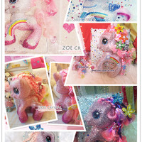 Swarovski / Czech Crystal 3D My Little Pony iPad / Samsung Galaxy Tab / Nexus / other Bling Tablet Cases - ZoeCrystal
