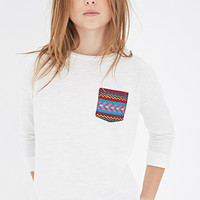 Embroidered Pocket Tee (Kids)