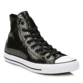DCKL9 Converse Black Metallic Leather Trainers