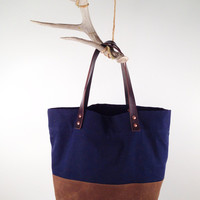 No. 2 Waxed Canvas Bag - reinforced bottom - MANREADY.COM