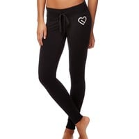 Aeropostale Womens Heart Knit Leggings - Black,