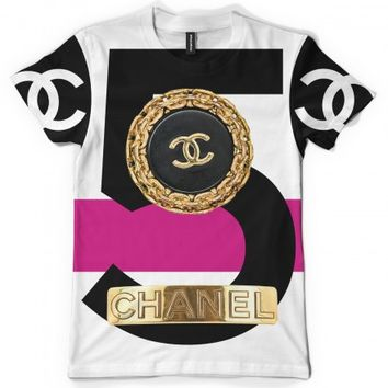 gold plate no 5 tee | chanel inspired t-shirts | 7twentyfour.com