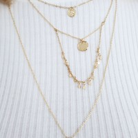 Focus On Me Necklace: Gold