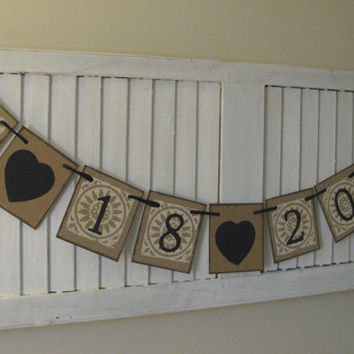 Save the Date Banner Special Date Garland Birthday Date Bunting Darling Engagement and Wedding Photo Prop