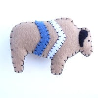 Totem chevron bison in brown and blue, number 4