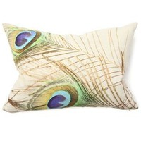 "Peacock 14"" x 20"" Pillow - Villa Home Collection 
