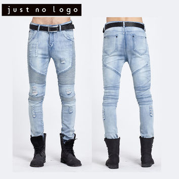 Men Fashion Destroyed Jeans