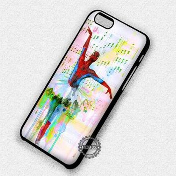 Water Color Spiderman Ballet Funny Superhero - iPhone 7 6 5 SE Cases & Covers