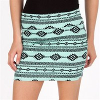 Living Doll Juniors Printed Body-Con Skirt at Von Maur