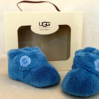 Ugg Australia Infant Collection I Bixbee Blue, Soft Suede Outsole