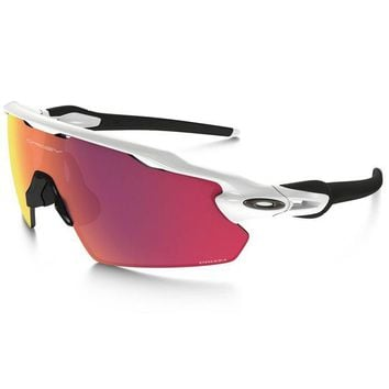 LMFON Tagre Oakley Polished White/Prizm Field Radar EV Pitch PRIZM Field