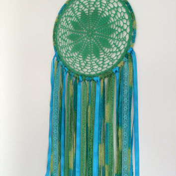 Large dreamcatcher Geeen and Turqoise