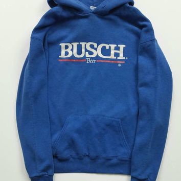 Vintage BUSCH Beer Hoodie Size L Made In USA