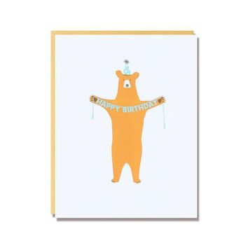 Happy Birthday Bear in Underwear Card