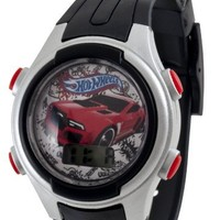 HOT WHEELS Kids' HWL002T Digital Car Gift Tin Set Watch