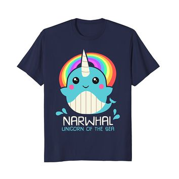 Unicorn Of The Sea Narwhal Shirt : Funny Magic Kawaii Whale