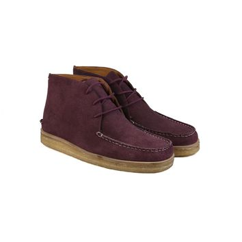 The Wallace | Men's Wine Suede, Soft Leather Boots