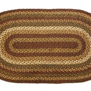 Simple and Lovely Tea Cabin Jute Rug Oval by VHC Brands