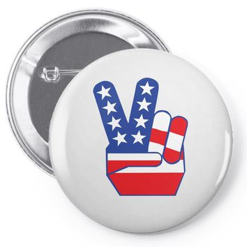 Peace Sign Hand Pin-back button