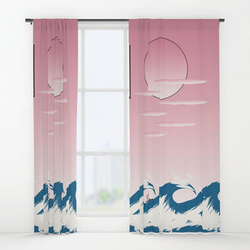 Sun and Sea Window Curtains by Chris Bradbury