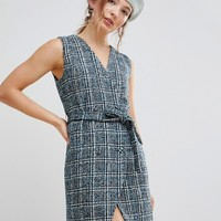 Unique 21 Sleeveless Blazer Dress In Textured Tweed at asos.com