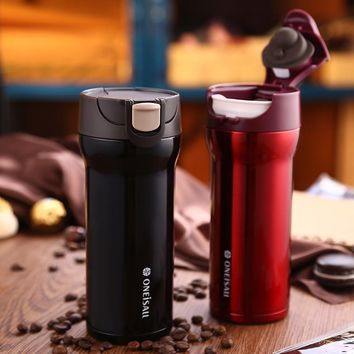 12oz Vacuum-Insulated Thermos (Red, White, & Black Colors)