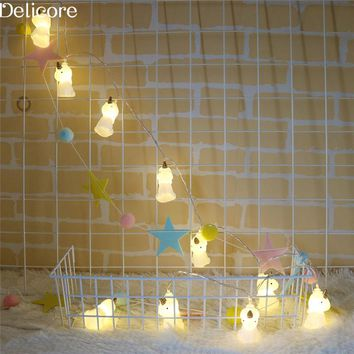 DELICORE 1.65M Unicorn LED String Fairy Light Outdoor Holiday Light For Party Christmas Room Decoration With Battery S195
