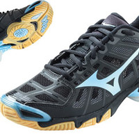 Midwest Volleyball Warehouse - Women's Mizuno Wave Lightning RX2 - Black/Lt. Blue