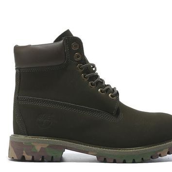 Timberland Icon 6 inch Premium With Camo Outsole Olive Green Waterproof Boots