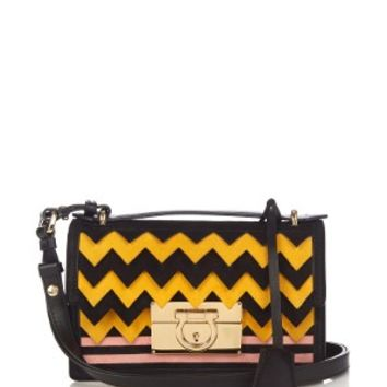 Aileen small leather and suede cross-body bag | Salvatore Ferragamo | MATCHESFASHION.COM US