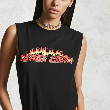 Baby Girl Graphic Muscle Tee